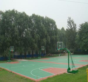 少林寺武校室外篮球场