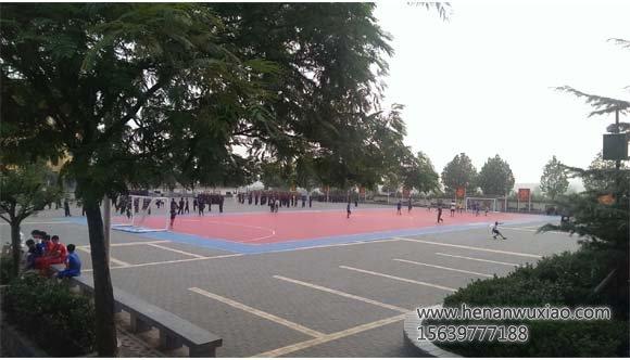 少林寺武校学生足球场