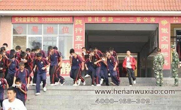 学校消防逃生演习